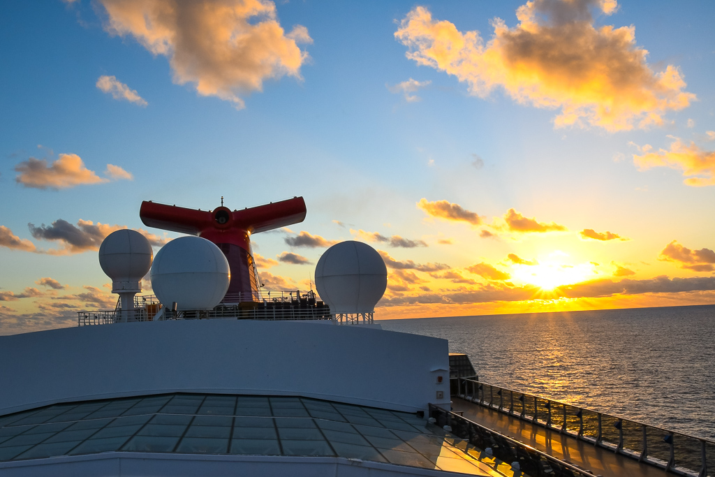Carnival Spirit at sunset